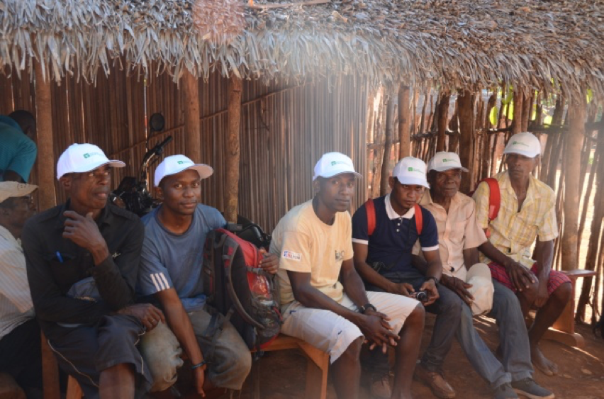 Community members in hats